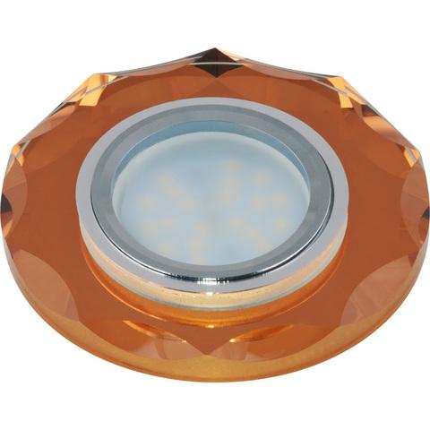 DLS-P105 GU5.3 CHROME/BRONZE Светильник декоративный встраиваемый многоугольник ТМ