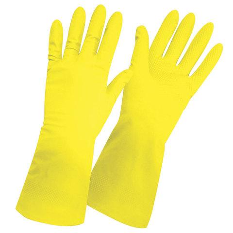 Перчатки латексные повыш. прочности RC-LF (c хлопк. напыл.), размер: L