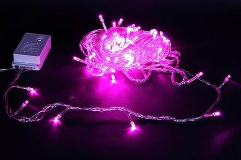 A-001 LED PP гирлянда светодиодная 10м 100LED с контроллером