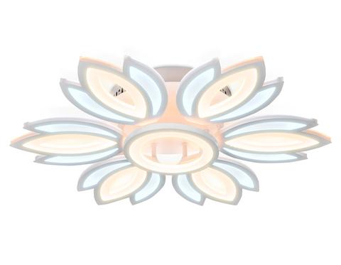 Потолочный светодиодный светильник без пульта FA456/6+1 WH белый 132W 3000K/6400K D640*110 (Без ПДУ)