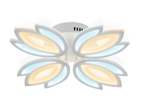 Потолочный светодиодный светильник без пульта FA455/4 WH белый 80W 3000K/6400K 530*530*90 (Без ПДУ)