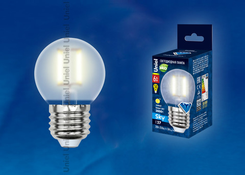 LED-G45-6W/WW/E27/FR PLS02WH Лампа светодиодная. Форма