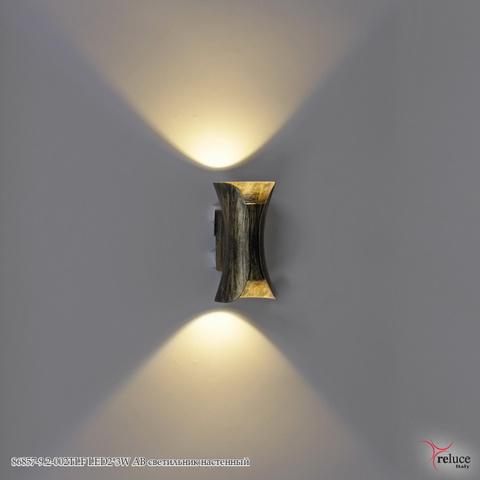 86857-9.2-002TLF LED2*3W AB светильник настенный