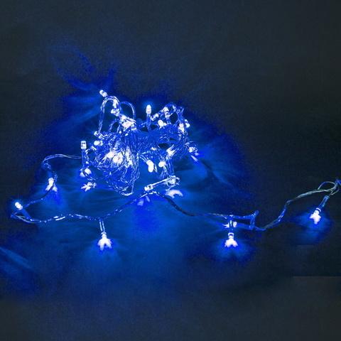 A-019 LED BL гирлянда светодиодная 5м, прозрачный провод