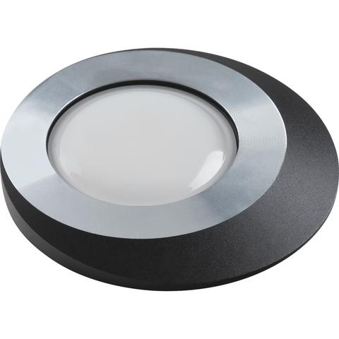 DLS-V105 GU5.3 CHROME+BLACK Светильник декоративный встраиваемый ТМ
