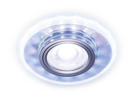 Встраиваемый точечный светильник со светодиодной лентой S211 PR хром/перамутровый /MR16+3W(LED COLD)