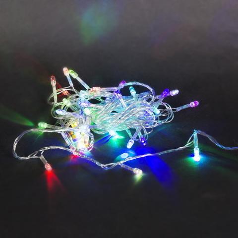 A-019 LED RGB гирлянда светодиодная 5м, прозрачный провод