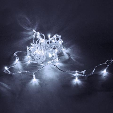 A-019 LED WT гирлянда светодиодная 5м, прозрачный провод