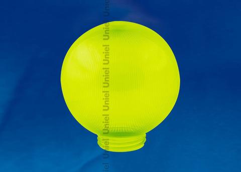 UFP-P200A GREEN Рассеиватель призматический (с насечками) в форме шара для садово-парковых светильников. Диаметр - 200мм. Тип соединения с крепежным элементом - резьбовой. Материал - САН-пластик. Цвет - зеленый. Упаковка - 4 шт. в групповой картонной коробке.