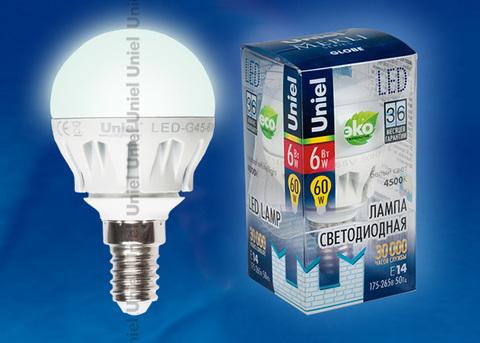 LED-G45-6W/NW/E14/FR ALM01WH Лампа светодиодная. Форма