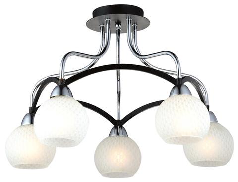 Потолочный светильник Escada 028/5PL E27*60W Black/Chrome