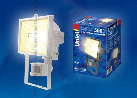 UPH-500W-WH- sensor Прожектор белый с галогенной лампой (сенсорный). Картонная упаковка