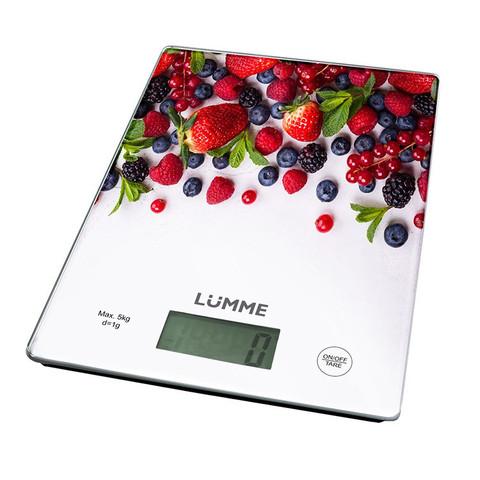 Весы кухонные сенсор LUMME LU-1340 лесная ягода