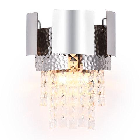 Настенный светильник с хрусталем TR5250/2 SL/CL серебро/прозрачный E14/2 max 40W 270*240*150