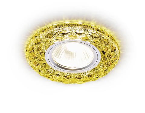 Встраиваемый точечный светильник со светодиодной лентой S288 GD хром/топаз/MR16+3W(LED WHITE)