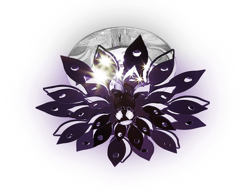 Встраиваемый потолочный светодиодный светильник S100 PU пурпурный 3W 4200K LED
