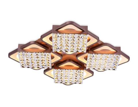 Потолочный светодиодный светильник с пультом FA129/4 CF кофе 222W 680*680*110 (ПДУ РАДИО 2.4)