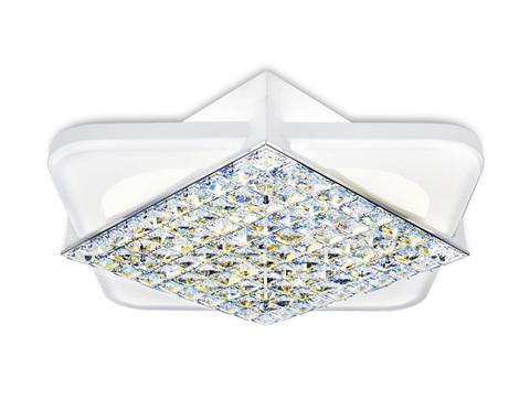 Потолочный светодиодный светильник с пультом FA124 WH белый 104W 510*510*110 (ПДУ РАДИО 2.4)