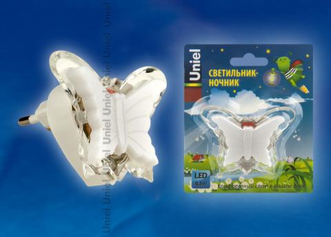 DTL-308-Бабочка/RGB/3LED/0,5W Светильник-ночник. Без выключателя. Блистер