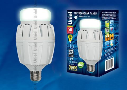 LED-M88-50W/NW/E27/FR ALV01WH Лампа светодиодная с матовым рассеивателем. Материал корпуса алюминий. Цвет свечения белый. Серия Venturo. Упаковка картон.