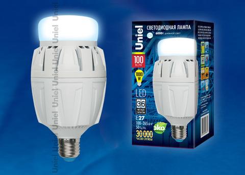 LED-M88-100W/DW/E27/FR ALV01WH Лампа светодиодная с матовым рассеивателем. Материал корпуса алюминий. Цвет свечения дневной. Серия Venturo. Упаковка картон.