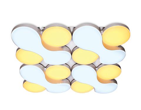 Потолочный светодиодный светильник с пультом FG1066/4 WH 208W 720*720*105 (ПДУ РАДИО 2.4)