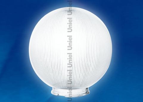 UFP-P300В CLEAR Рассеиватель призматический (с насечками) в форме шара для садово-парковых светильников. Диаметр - 300мм. Тип соединения с крепежным элементом - посадочный. Материал - САН-пластик. Цвет - прозрачный. Упаковка - 2 шт. в групповой картонной коробке.