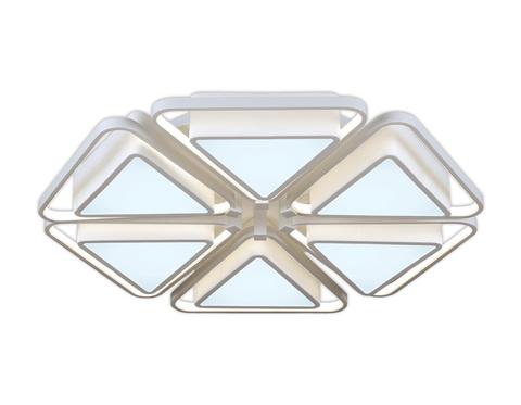Потолочный светодиодный светильник с пультом FG2502/6 WH 204W 750*750*120 (ПДУ РАДИО 2.4)