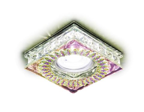 Встраиваемый точечный светильник со светодиодной лентой S251 PR хром/перламутровый хрусталь/MR16+3W(LED WHITE)