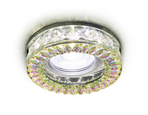Встраиваемый точечный светильник со светодиодной лентой S241 PR хром/перламутровый хрусталь/MR16+3W(LED WHITE)