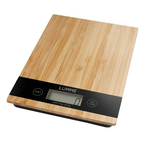 Весы кухонные сенсор LUMME LU-1346 бамбук