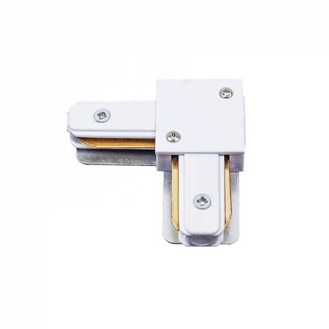 UBX-Q122 G21 WHITE 1 POLYBAG Соединитель для шинопроводов типа G, L-образный. Однофазный. Белый. ТМ Volpe.
