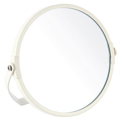 Зеркало косметическое M-1602P двустороннее (1/Х2) (диаметр:15 см, окраш.металл,стекло)