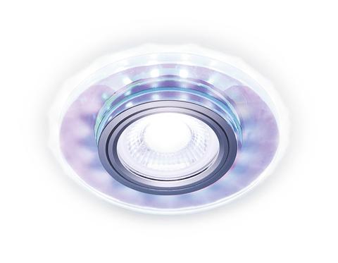 Встраиваемый точечный светильник со светодиодной лентой S211 PR/WH хром/перламутровый MR16+3W(LED WHITE 4200K)