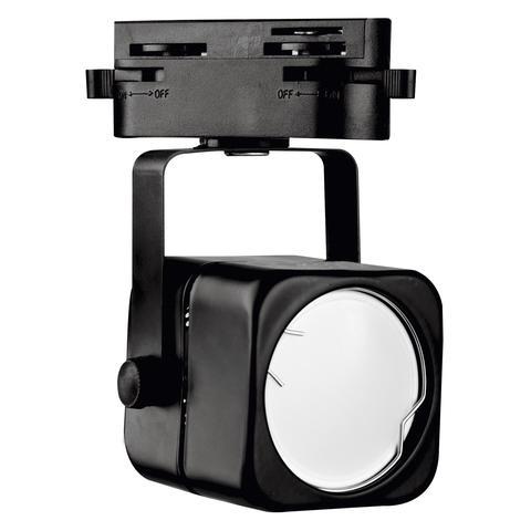 UBL-Q320 GU10 BLACK Светильник-прожектор трековый. Под лампу GU10. Корпус черный. ТМ Volpe