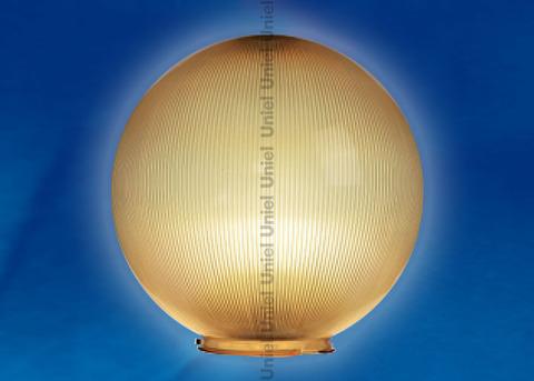 UFP-P250В BRONZE Рассеиватель призматический (с насечками) в форме шара для садово-парковых светильников. Диаметр - 250мм. Тип соединения с крепежным элементом - посадочный. Материал - САН-пластик. Цвет - бронзовый. Упаковка - 4 шт. в групповой картонной коробке.