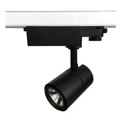 ULB-T52-10W/4000K/H BLACK Светильник-прожектор светодиодный трековый. 900 Лм. Белый свет (4000К). Корпус черный. ТМ Uniel