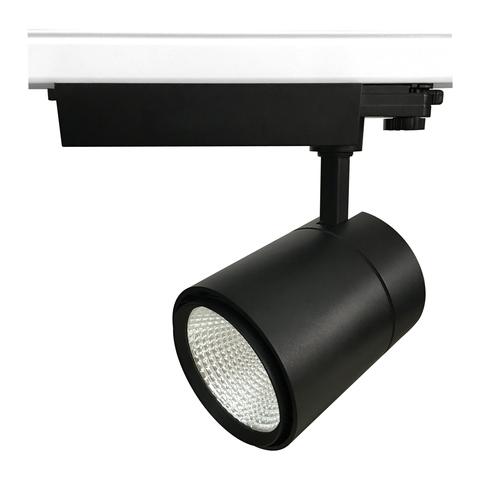 ULB-T52-50W/4000K/B BLACK Светильник-прожектор светодиодный трековый. 4500 Лм. Белый свет (4000К). Корпус черный. ТМ Uniel.