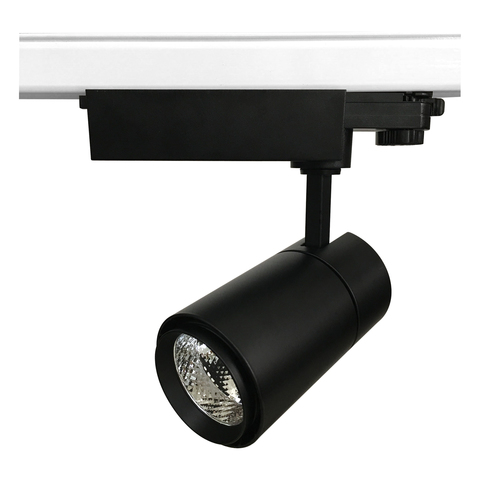 ULB-T52-24W/4000K/H BLACK Светильник-прожектор светодиодный трековый. 2200 Лм. Белый свет (4000К). Корпус черный. ТМ Uniel