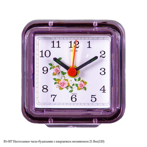 В1-007 Настольные часы-будильник с кварцевым механизмом