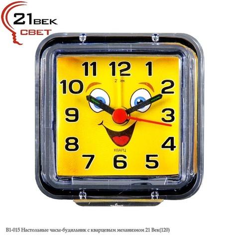 В1-015 Настольные часы-будильник с кварцевым механизмом