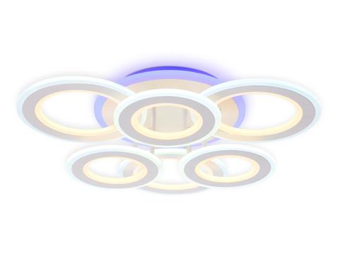 Потолочный светодиодный светильник с пультом FA8805 WH белый 174W 550*550*130 (ПДУ РАДИО 2.4)