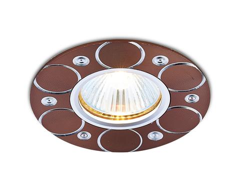 Встраиваемый потолочный точечный светильник A808 AL/BR алюминий/коричневый MR16