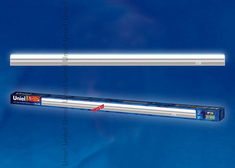 ULI-L02-7W-5100K-SL Светильник линейный светодиодный (аналог Т5). Дневной свет. 580Lm. Выключатель на корпусе. Серебристый. TM Uniel.