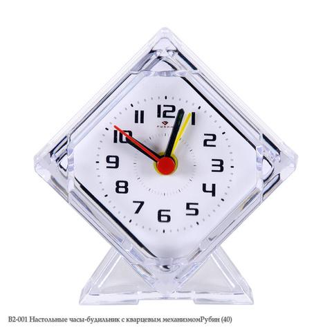 В2-001 Настольные часы-будильник с кварцевым механизмом