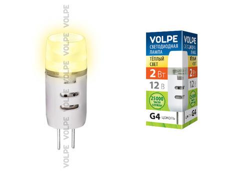 LED-JC-2W/WW/G4/FR/S картон Лампа светодиодная JC Volpe 12В. Цвет свечения теплый белый. Серия Simple. Упаковка картон