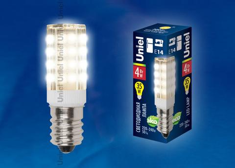 LED-Y16-4W/WW/E14/CL PLZ04WH Лампа светодиодная для холодильников и швейных машин. Прозрачная колба. Цвет свечения теплый белый. Упаковка картон.
