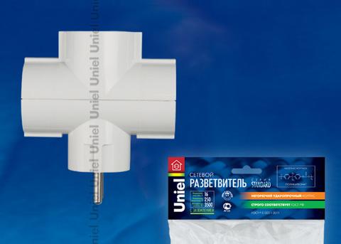 S-GES3-16T Разветвитель сетевой Uniel, количество розеток – 3, Максимальный ток - 16А, Максимальная мощность нагрузки – 3500Ватт, заземление, упаковка – пакет