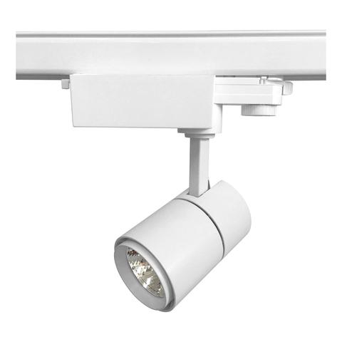 ULB-T52-10W/4000K/H WHITE Светильник-прожектор светодиодный трековый. 900 Лм. Белый свет (4000К). Корпус белый. ТМ Uniel