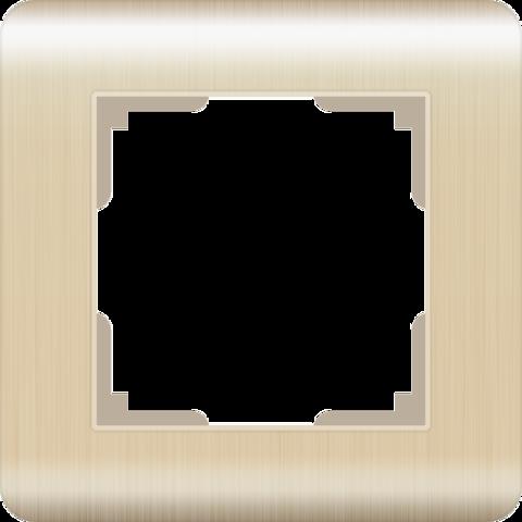 Рамка на 1 пост (шампань) WL12-Frame-01